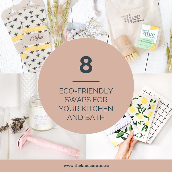 8 eco-friendly swaps for your kitchen and bath