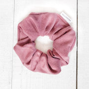 Upcycled fabric hair scrunchie in Rose from Bellantoni Designs
