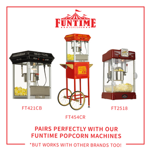 FunTime FT2512 2.5-Ounce 3-in-1 Popcorn Portion Movie Pouch Kit - 12pk