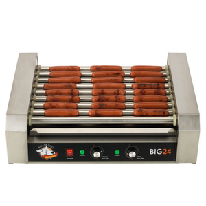 Roller Dog RDB24SS Commercial 24 Hot Dog 9 Roller Grill Cooker Machine