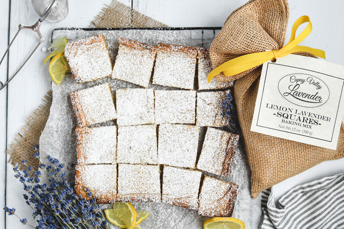 LEMON LAVENDER SQUARES BAKING MIX