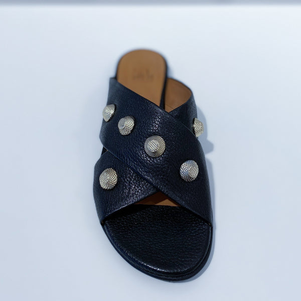 Billi bi sandal Black buffalo/gold