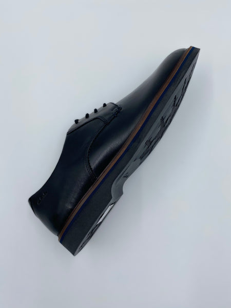 Clarks Herre sko Malwood Plain Black Leather