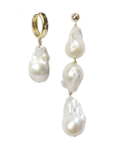 asymmetric baroque pearl earrings