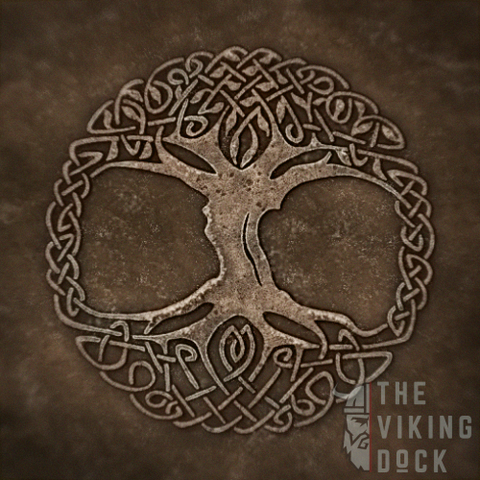artistic representation of Yggdrasil world tree of life norse cosmology