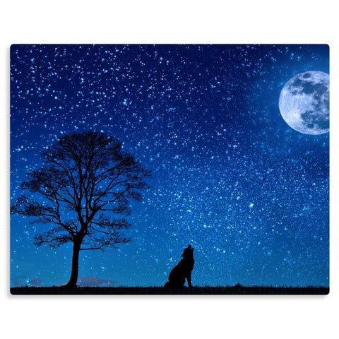 Moonlit Wolf - Metal Print - The Viking Dock