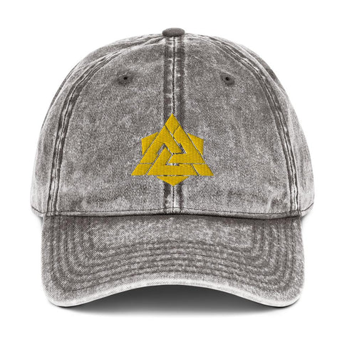 Vintage Valknut Baseball Cap - The Viking Dock