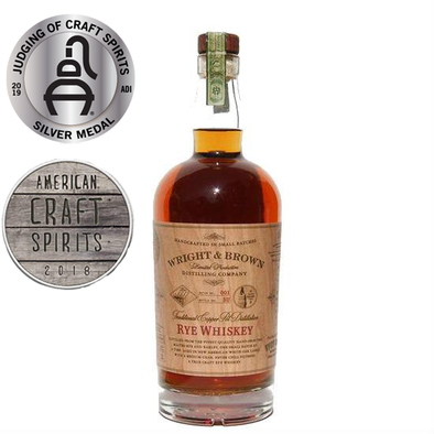 Wright & Brown Rye Whiskey 750ml