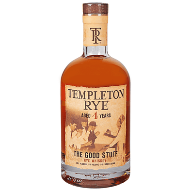 Templeton Aged 4 Years Rye Whiskey 750ml