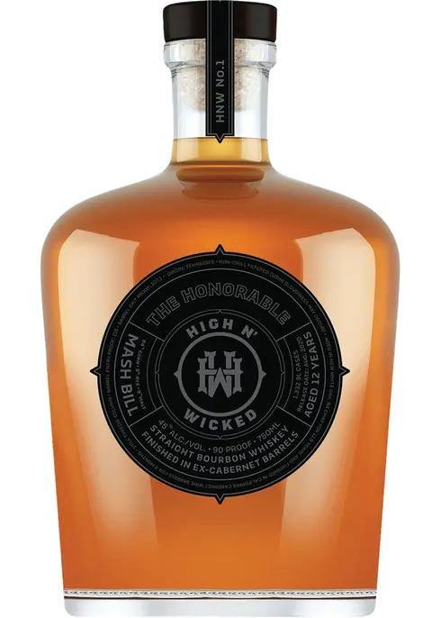 High N' Wicked The Honorable Aged 12 Year Straight Bourbon Whiskey 750ml
