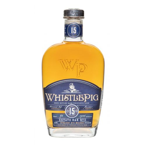 WhistlePig Aged 15 Years Straight Rye Whiskey Vermont Estate Oak 750ml