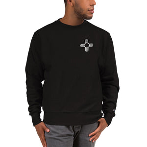 Zia Black and White - Champion Sweatshirt