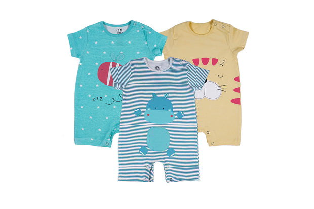 Every Mood Rompers – Pack of 3