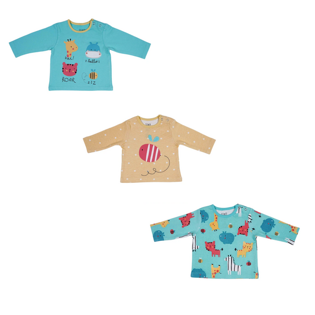 Lovable Animals Tops – Pack of 3