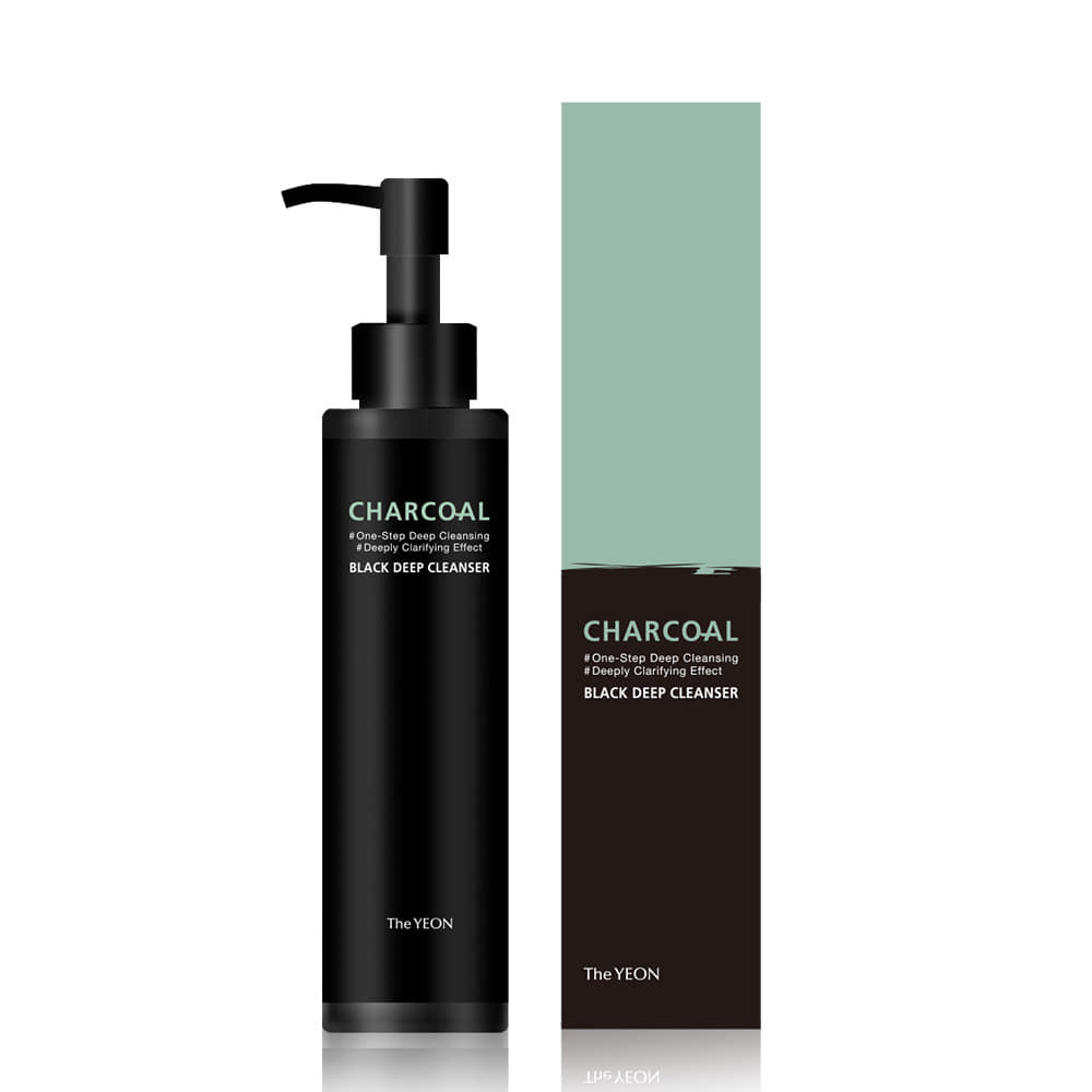 [THE YEON] CHARCOAL BLACK DEEP CLEANSER, 150ML