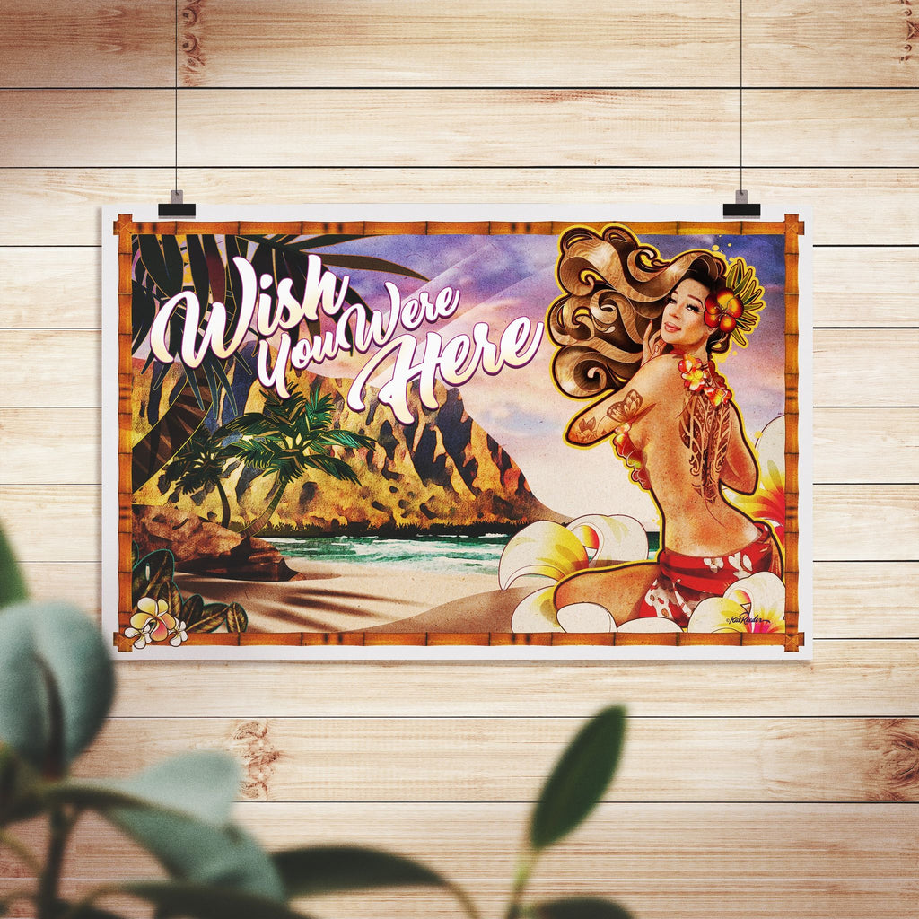 "PRE-ORDER ""Wish You Were Here"" Hirie Livestream Commemorative Poster - 11 x 17"