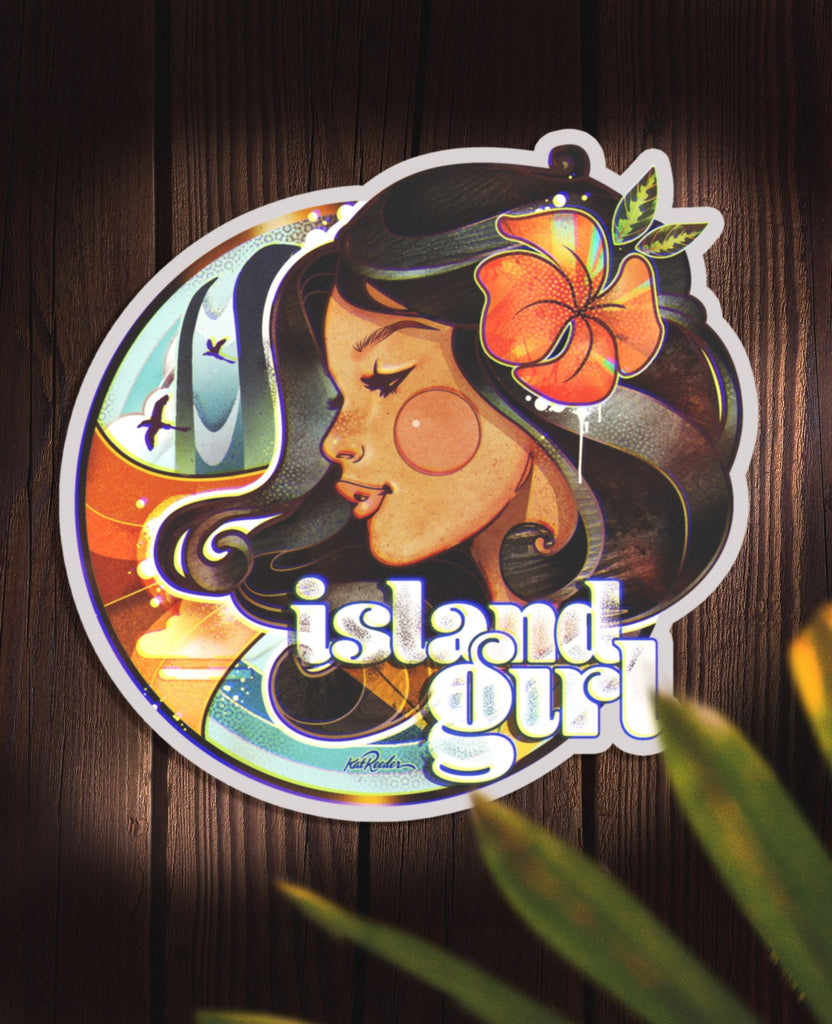 Island Girl - 4x4 Sticker