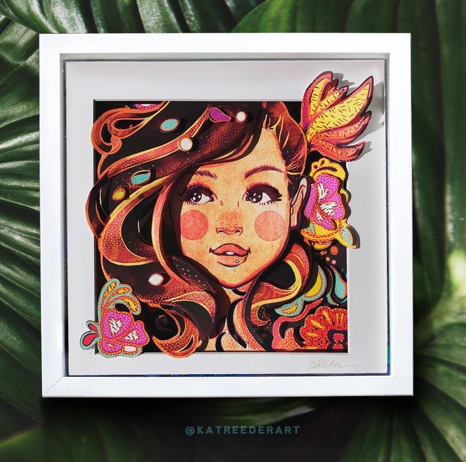 Brown Eyed Girl - 3D Pop Shadow Box