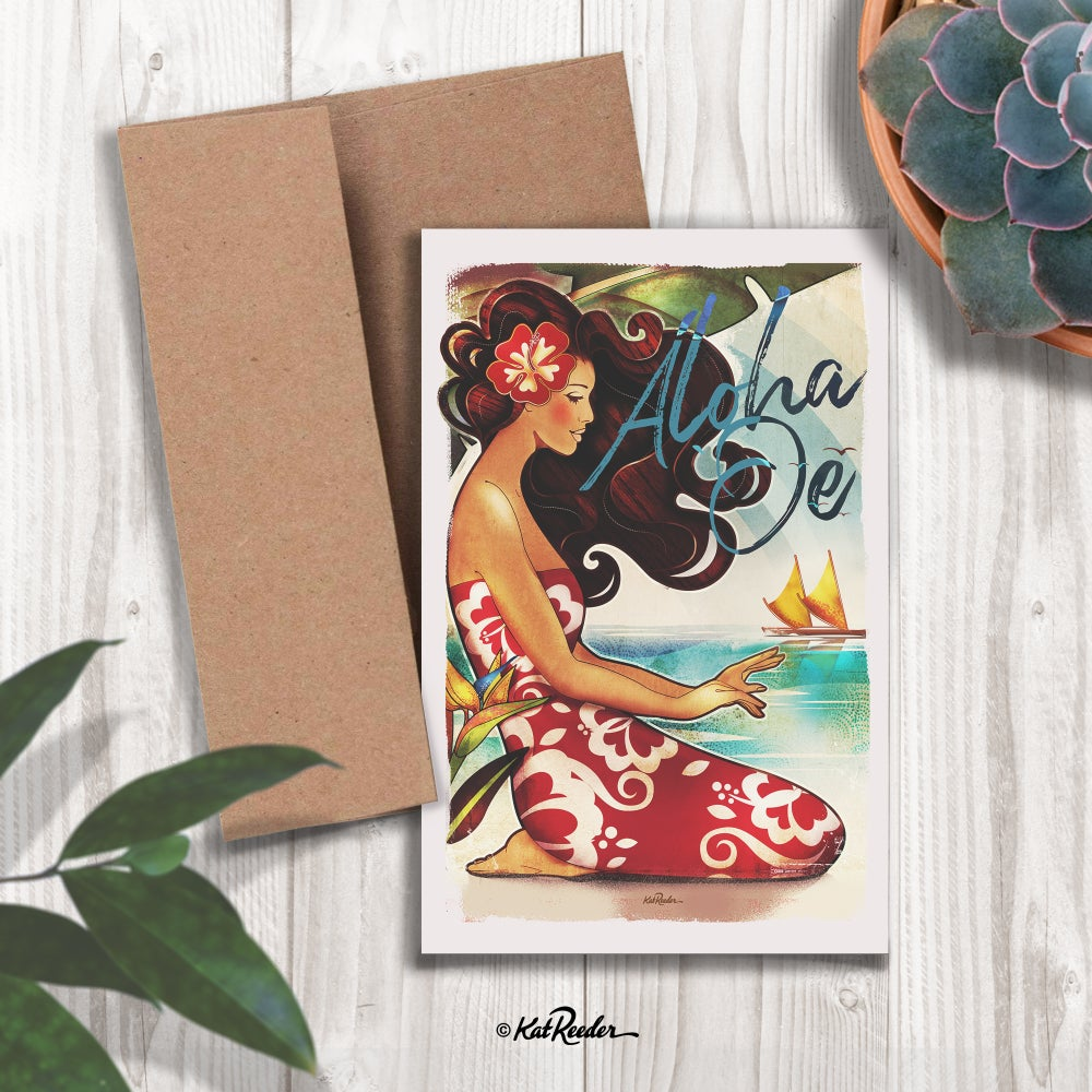 hawaiian greeting card Kat Reeder