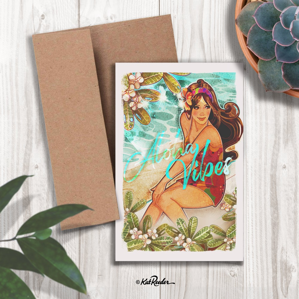 Aloha Vibes - 5x7 Greeting Card