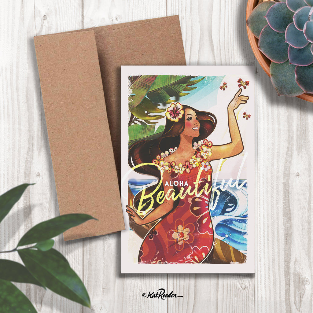 Beautiful - 5x7 Greeting Card