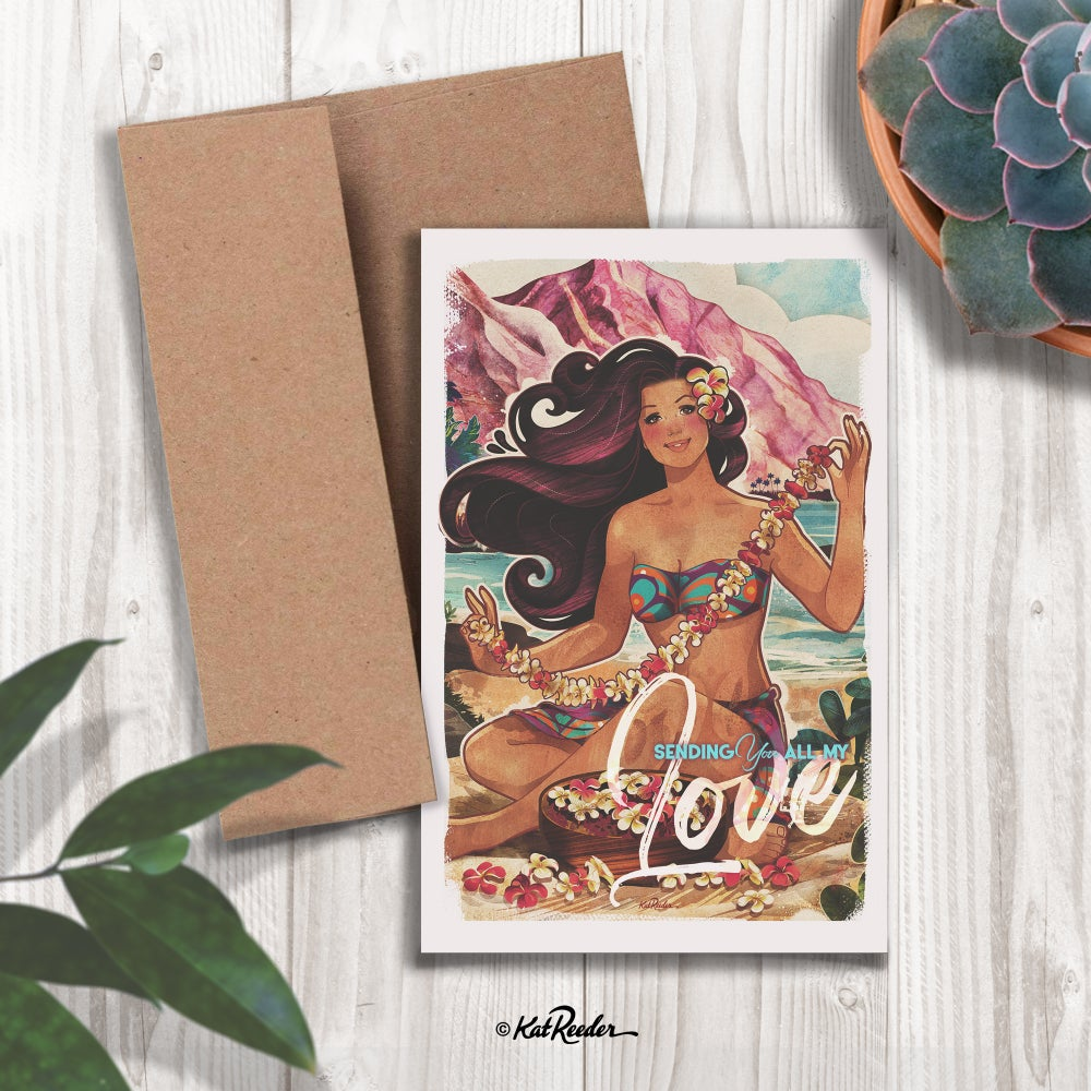 All My Love - 5x7 Greeting Card