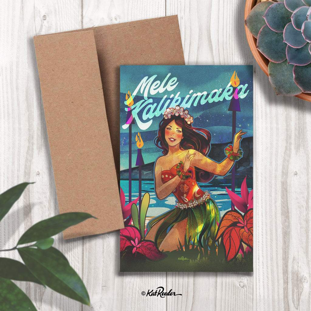 Mele Kalikimaka I - 5x7 Greeting Card