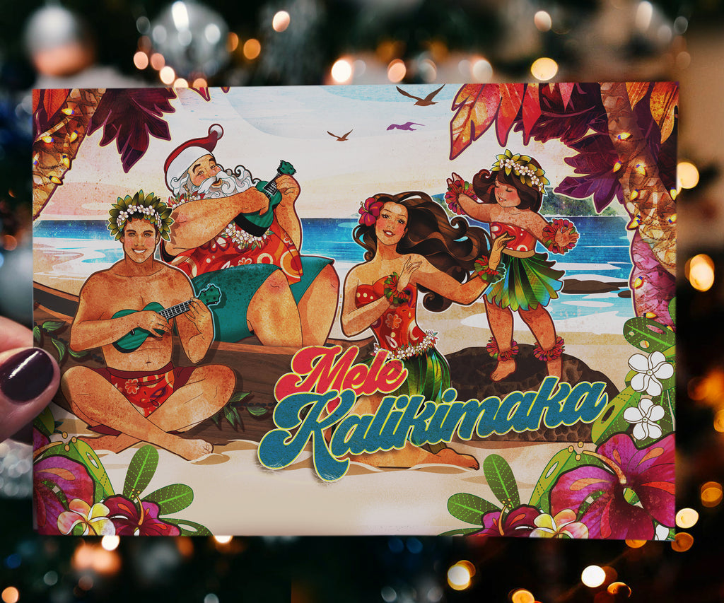 Mele Kalikimaka II - 5x7 Greeting Card