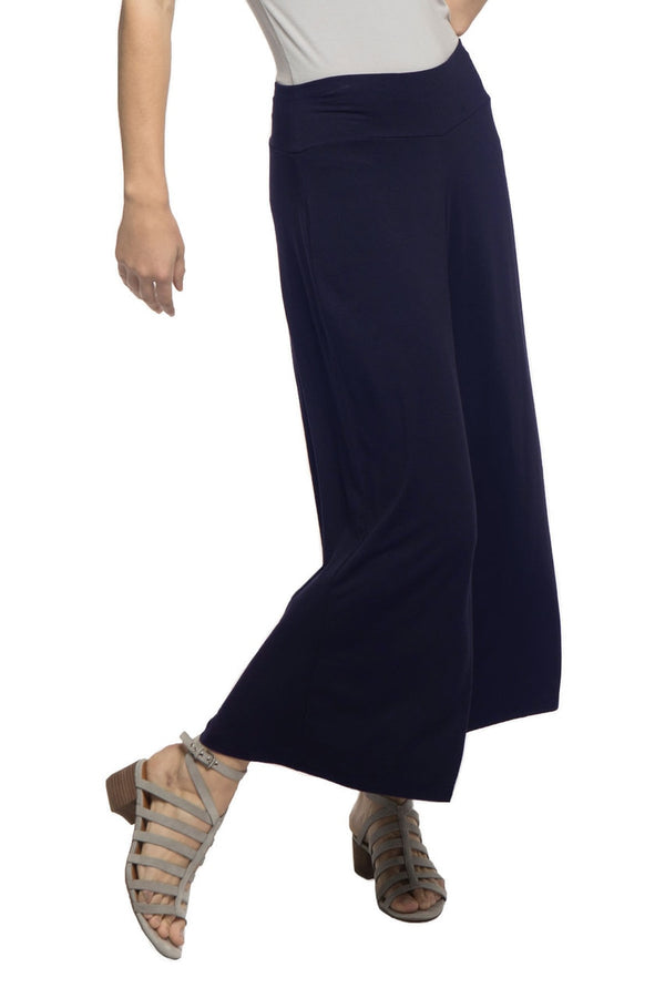 Jaden Wide Leg Cropped Bamboo Pant