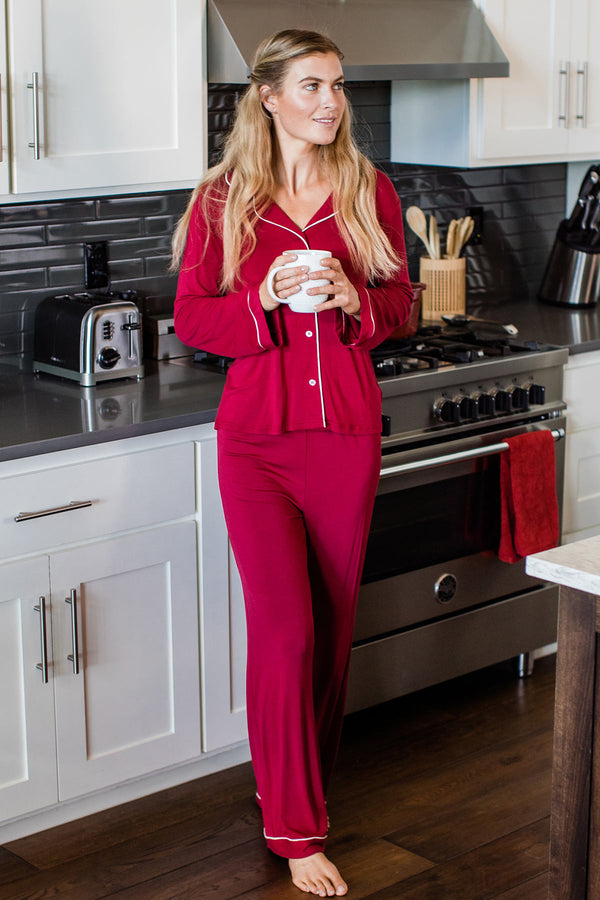 Amber Classic Button Front Bamboo Pajama Set