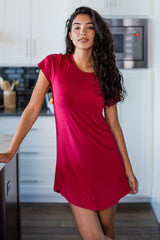 Betsy Short Sleeve Fitted Bamboo Nightshirt