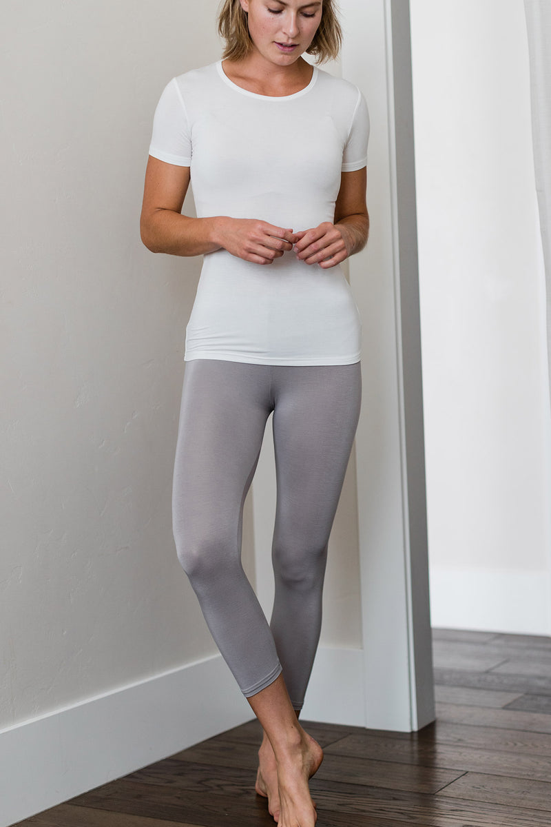 Bliss Lightweight Cropped Bamboo Legging