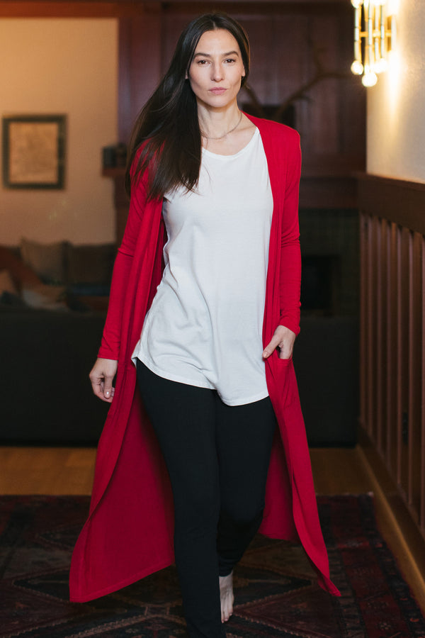 Brooke Cardigan Duster Bamboo Sweater