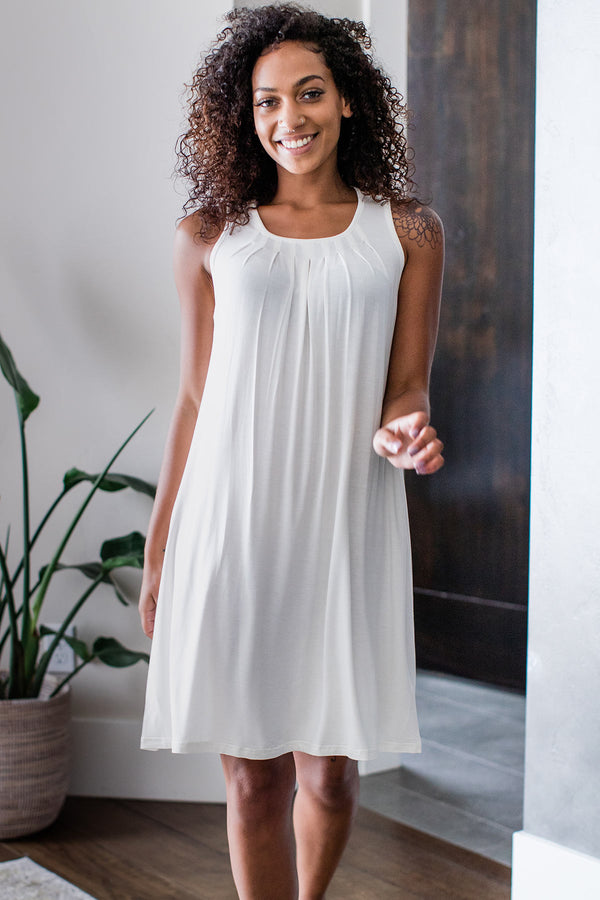 Delia Gathered Tank Bamboo Nightgown