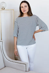 Jaclyn Wide Sleeve Boatneck Bamboo Top