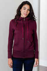 Scarlet Zip-Up Organic Cotton & Bamboo Hooded Jacket
