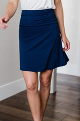 Staci Knee-Length A-Line Bamboo Skirt
