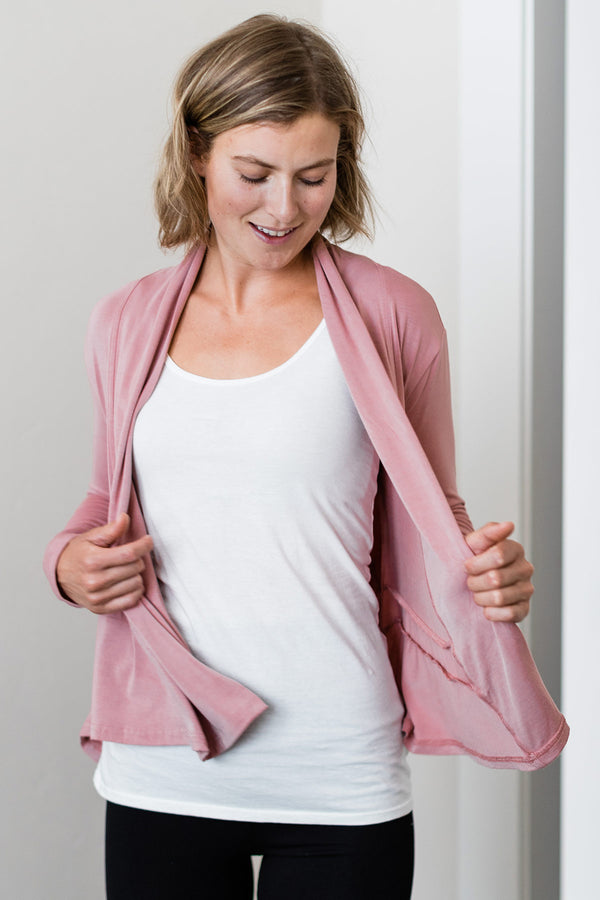 Tatum Hi-Low Bamboo Cardigan Wrap