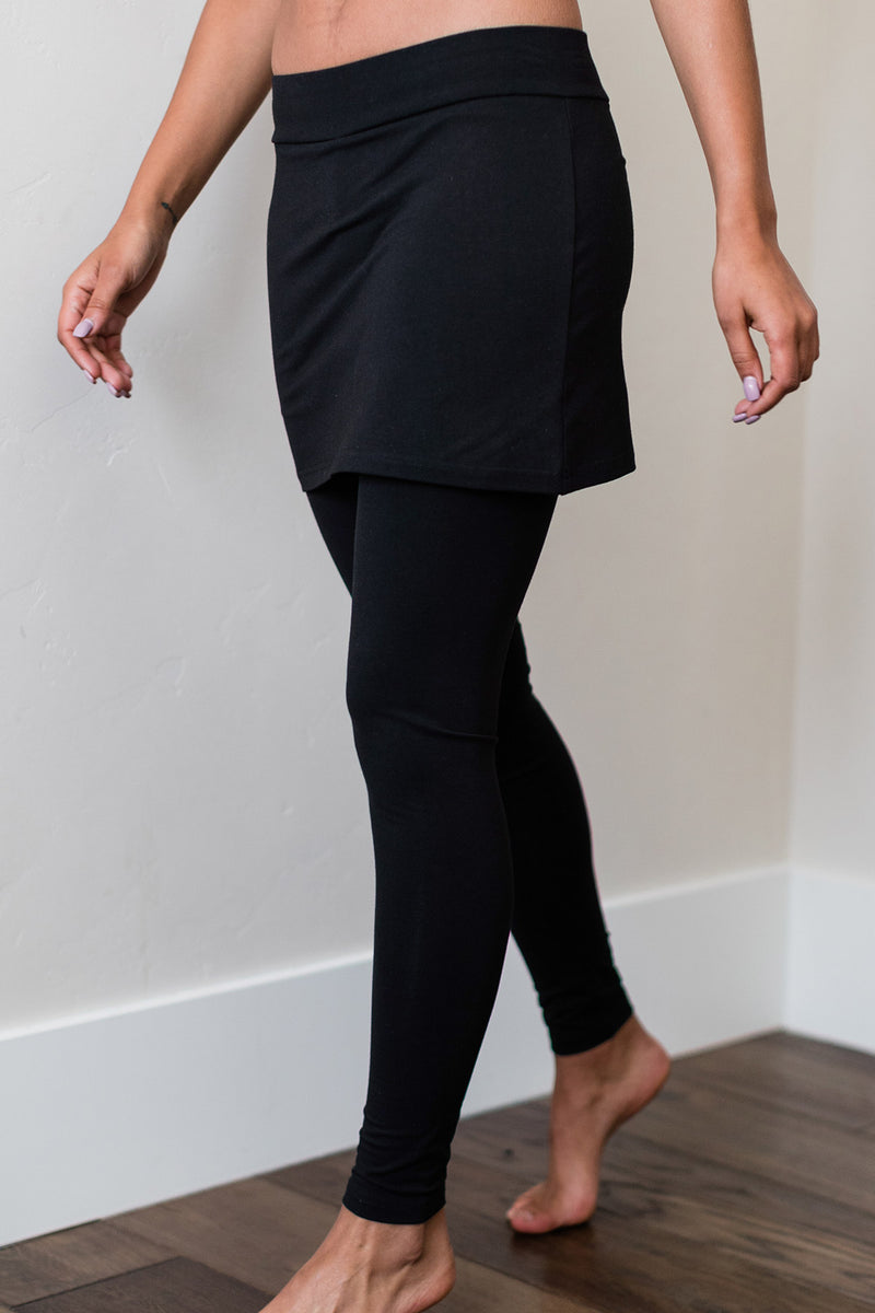 Taylor Ultra-Stretch Organic Cotton & Bamboo Skirt Legging