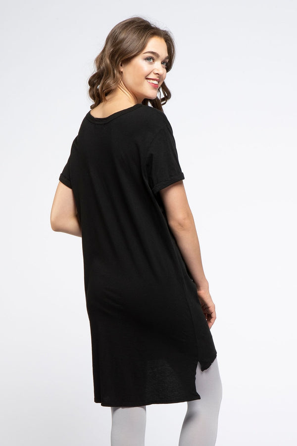 Phoebe Short Sleeve Organic Cotton Tunic
