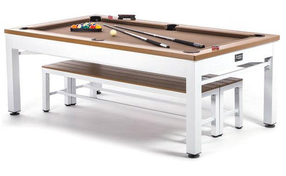 Outdoor Pool Table For Sale | Dining Top, Ping-Pong, And Benches