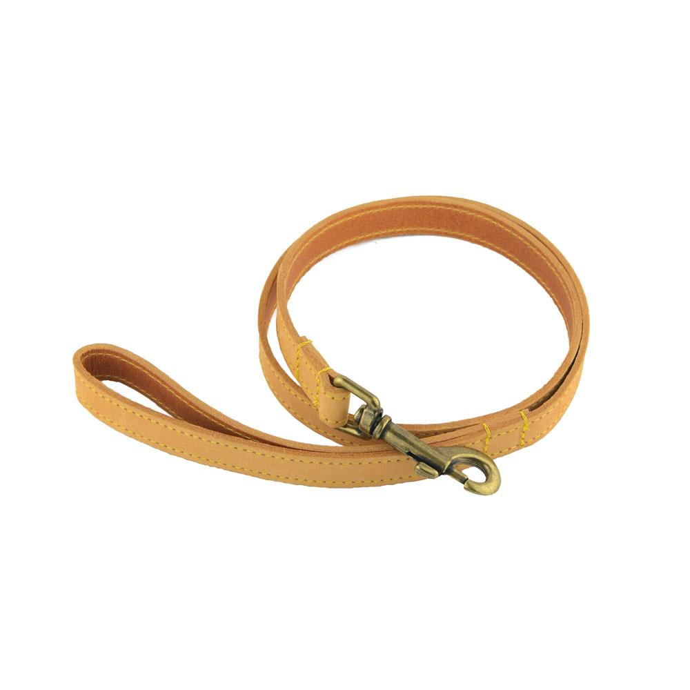 Ancol Timberwolf Top-Grain Bridle Leather Dog Leads / Leashes - National Engraver