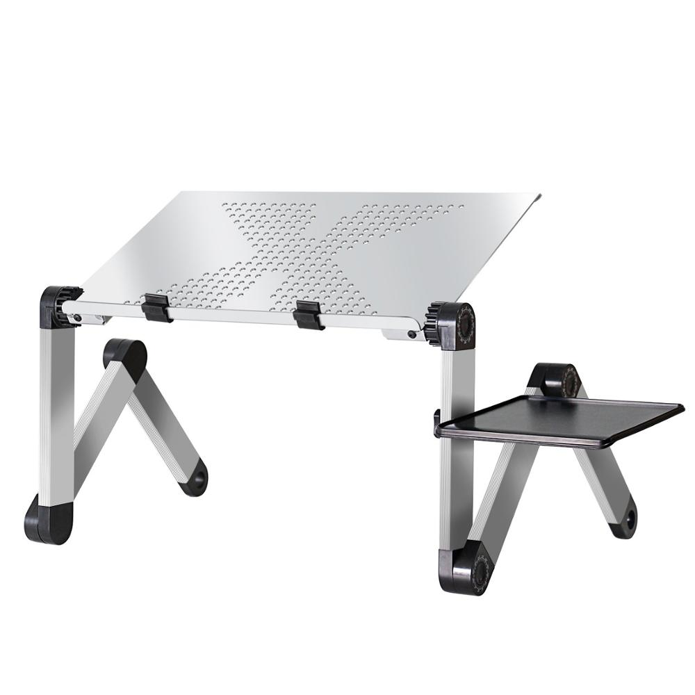 LPTOPDSK Adjustable Vented Ergonomic Portable Aluminum Laptop Desk, Stand Desk, Bed Tray, Couch Desk