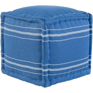 "Surya Pouf ""Bande"" in Blue"
