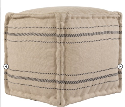 "Surya Pouf ""Bande"" in Natural"