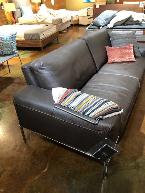 Bracci Italian Leather Sofa Chic 3-Seater Maxi in Victoria G35