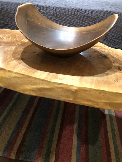 Andrew Pearce Vermont Hand-Turned Artisan Bowl Black Walnut 20""