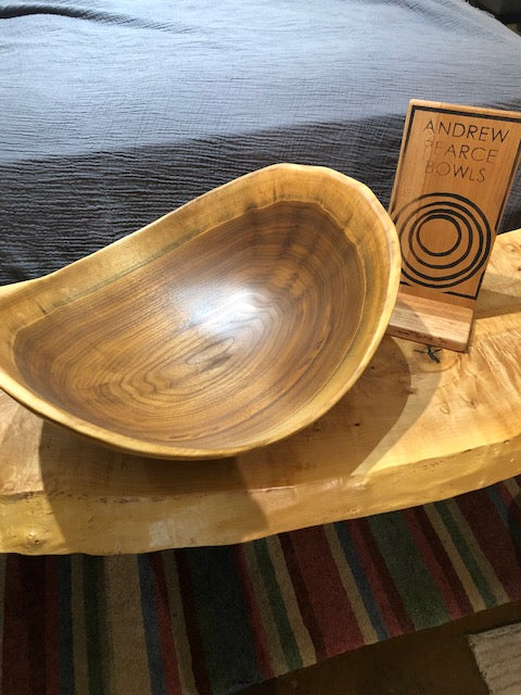 Andrew Pearce Vermont Hand-Turned Artisan Wooden Bowl Walnut 17