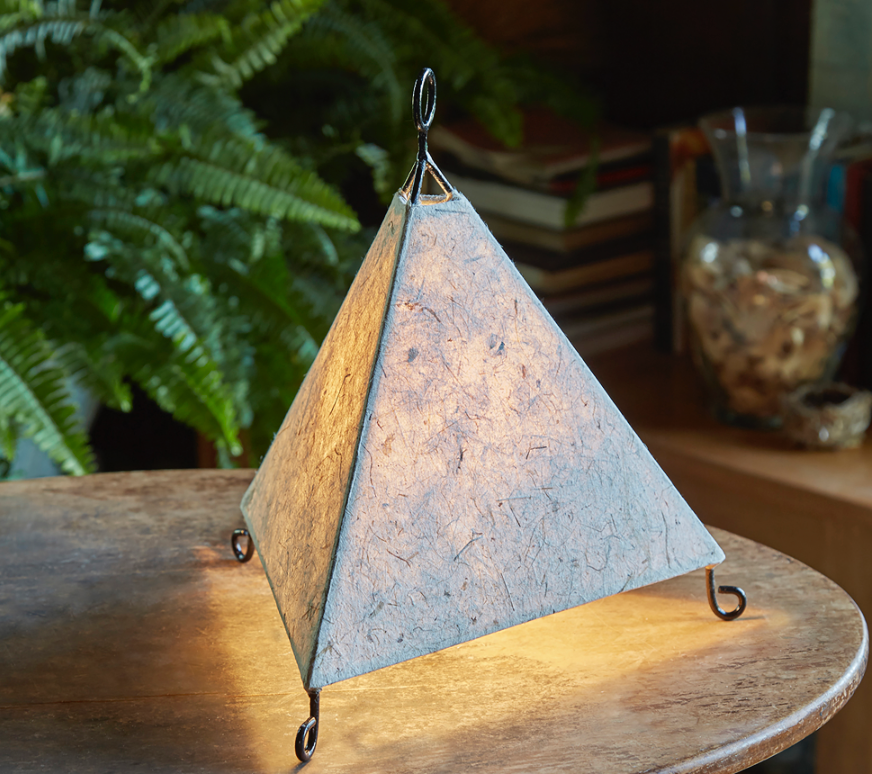 Eangee Pyramid Natural Table Lamp