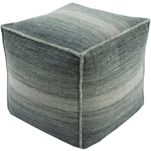 Surya Pouf Linen in Green